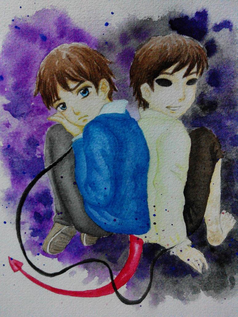Alex and Ghost Boy Ruen by mapelie