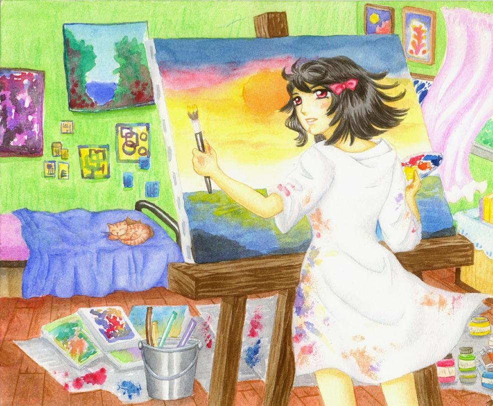 Art Trade #1 by mapelie