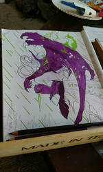 WIP Illidan (WOW Coloring Book)