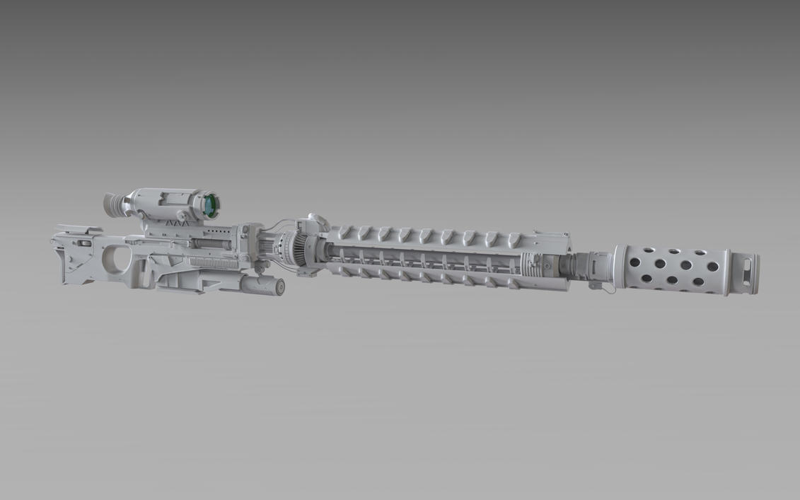 Railgun Sniper Rifle by Psycho4140
