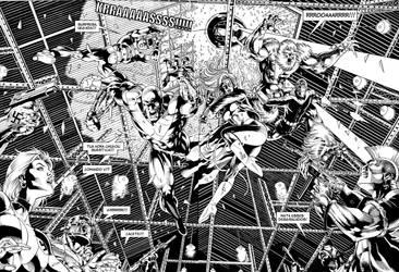 Double-page Comando V by Goldmanpenciler