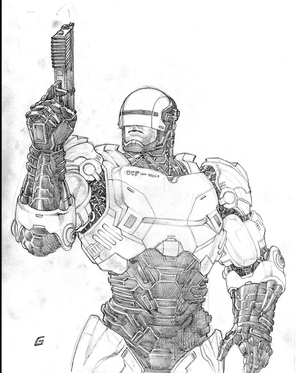 robocop coloring pages - photo#23