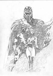 Magneto`s family. by Goldmanpenciler
