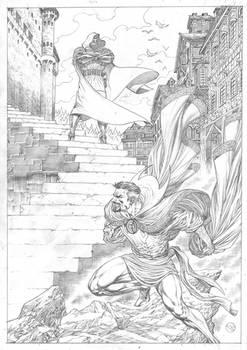 Dr.Doom versus Dr.Strange, commission!