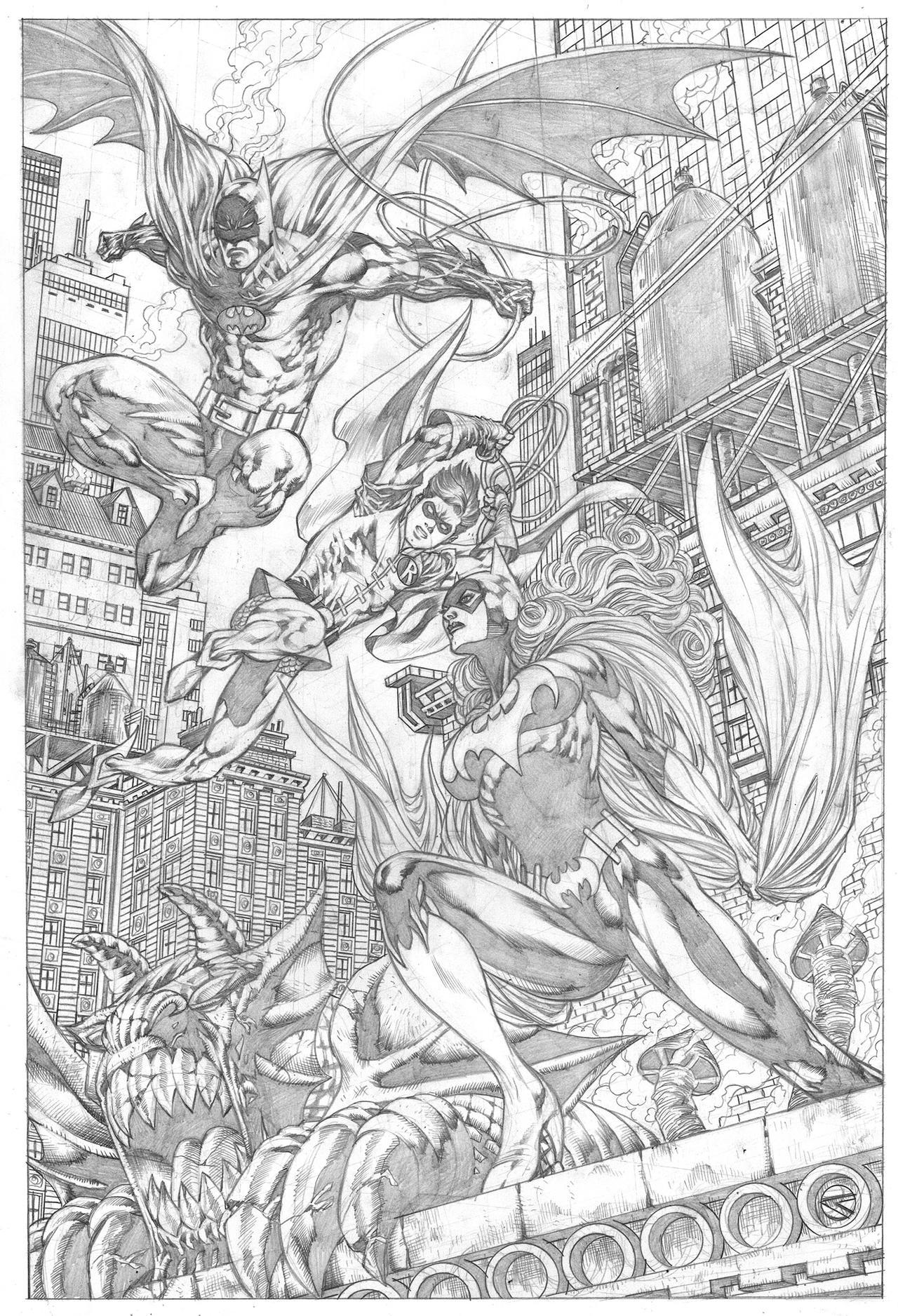 #batman #batgirl #robin commission