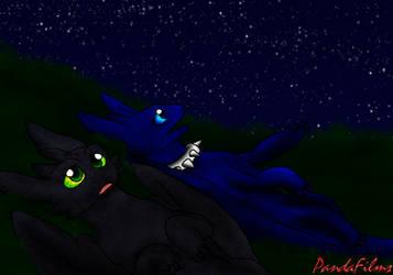 The Nightstar and The Nightflower by DragonDogFilmsG