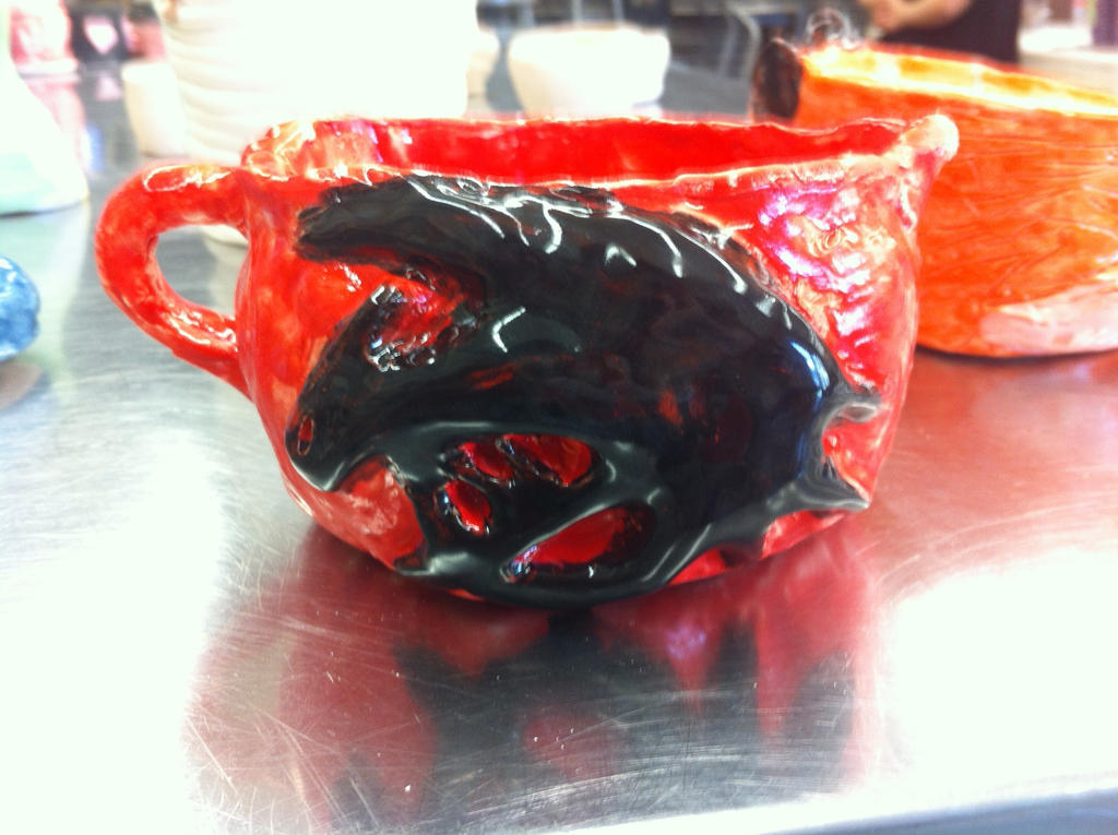 Ceramic Class Final Pottery 2: HTTYD ToothlessCup by PandaFilms