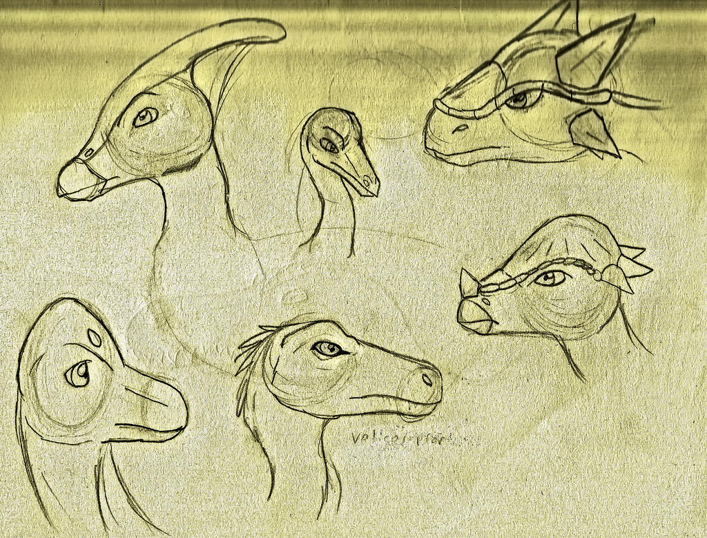 Dinosaur Sketchs by PandaFilms