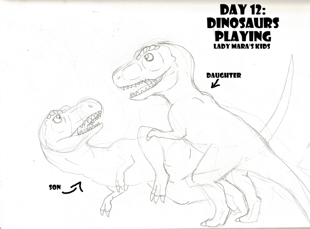 30 Day Dinosaur Drawing Challenge: Day 12 by PandaFilms