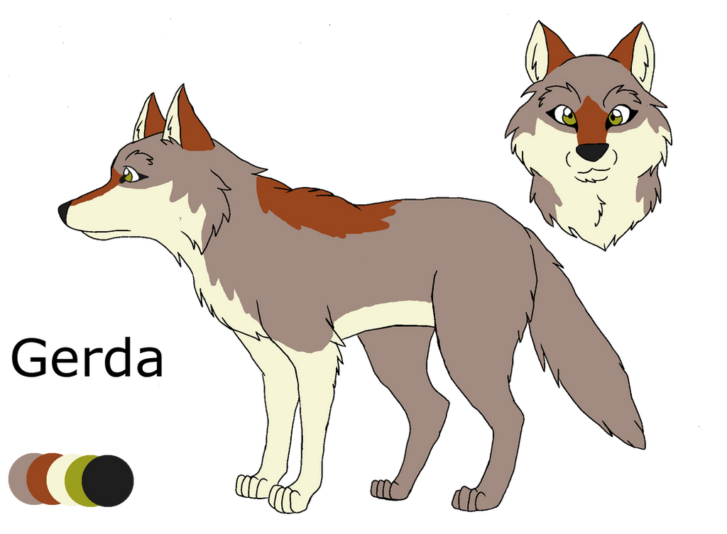 .:Shades of A Wolf Pack:. Gerda Ref Sheet by PandaFilms
