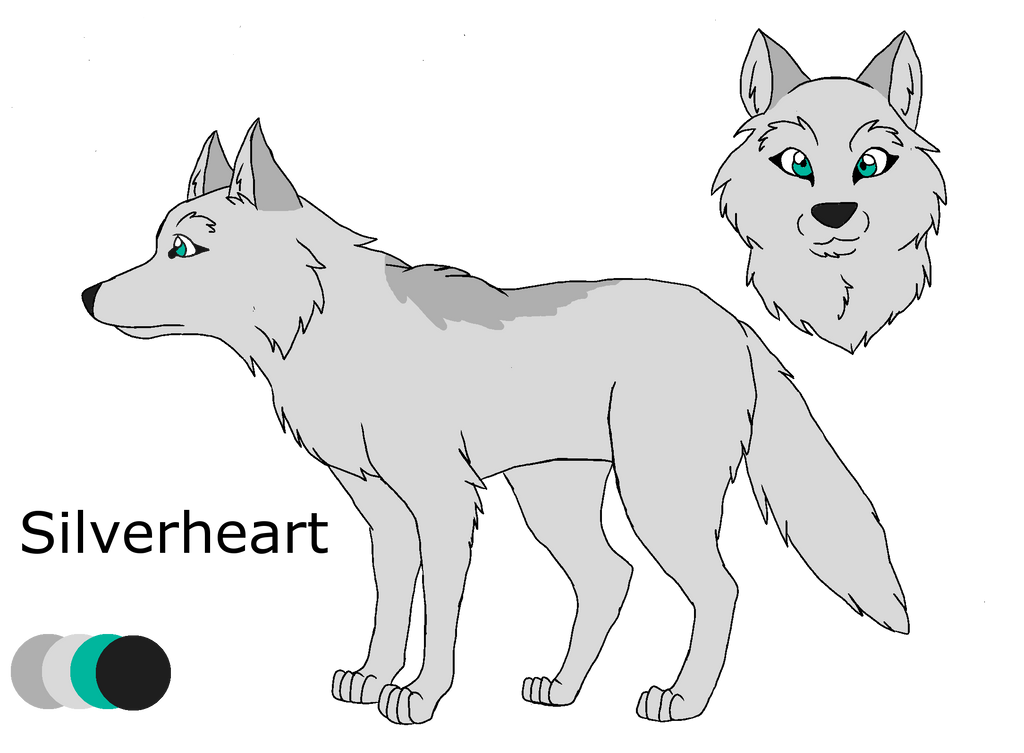 .:Shades of A Wolf Pack:. Silverheart Ref Sheet by PandaFilms