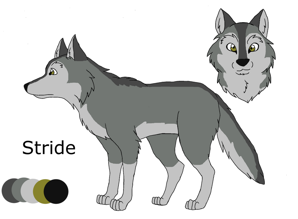 .:Shades of A Wolf Pack:. Stride Ref Sheet by PandaFilms