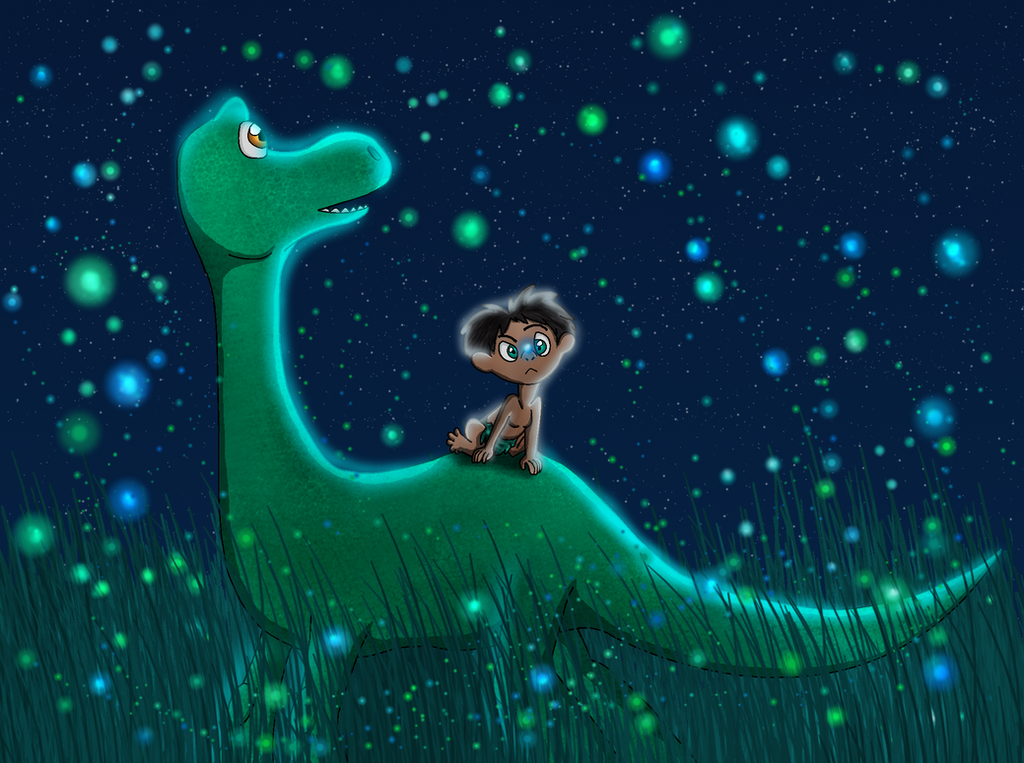 The Good Dinosaur Entry - Glowing Lights by PandaFilms