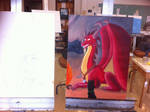 What I'm working on in Painting class
