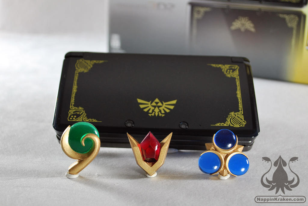 Legend of Zelda OOT 3DS Spiritual Stone Set