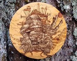 Howl's Moving Castle - Wood Medallion