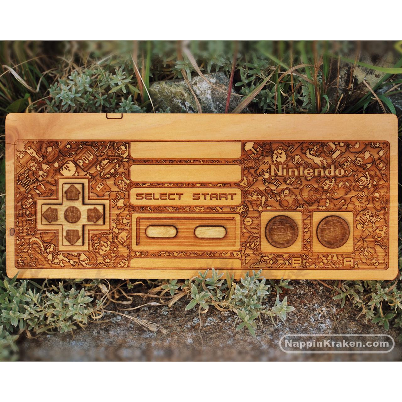 NES Controller - Wood Decoration