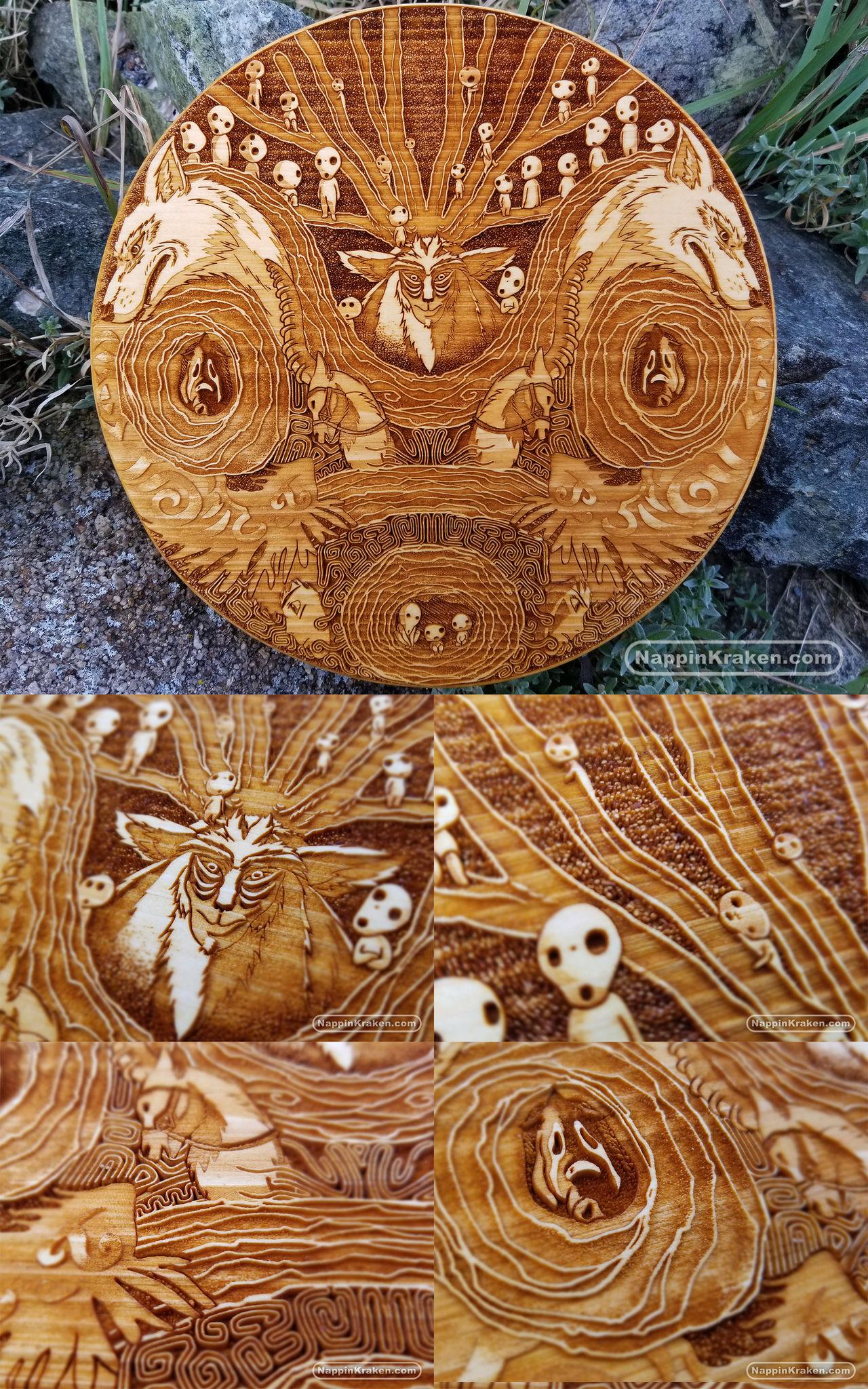Princess Mononoke - Wood Medallion