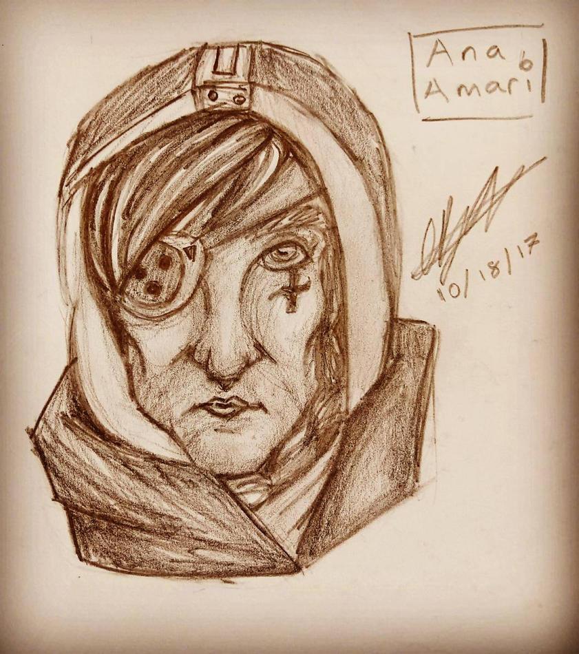 Ana Amari - Portrait by LunacyInArt
