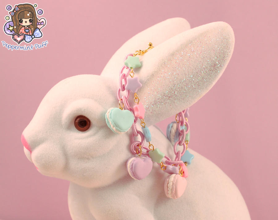 Pastel Macaron Charm Bracelet - Purple by PeppermintPuff