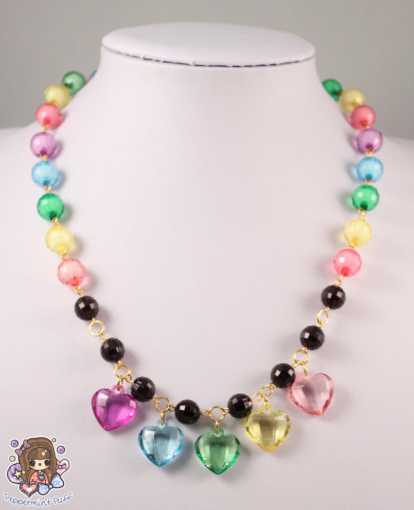 Rainbow Drops Necklace by PeppermintPuff