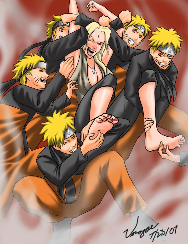 Tsunade and Naruto by Umojar