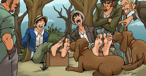 Tom and Huck tortured by Bad-Pierrot
