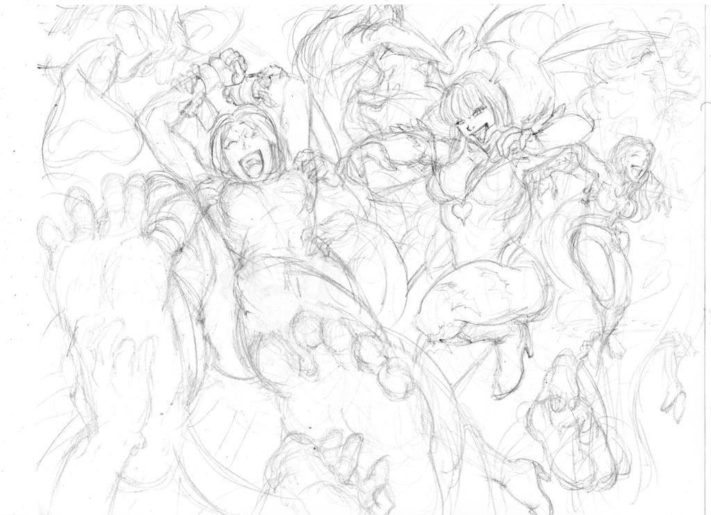 MvC 3: Morrigan/Trish vs. She Hulk/Phoenix by Umojar