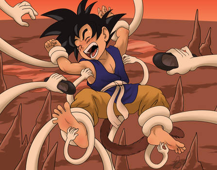 Goku tickled in hell again
