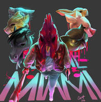 [Hotline Miami] Richard and The Zoo by 13lolol