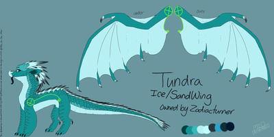 Tundra : Finished Reference sheet commission by Milo-On-The-Moon