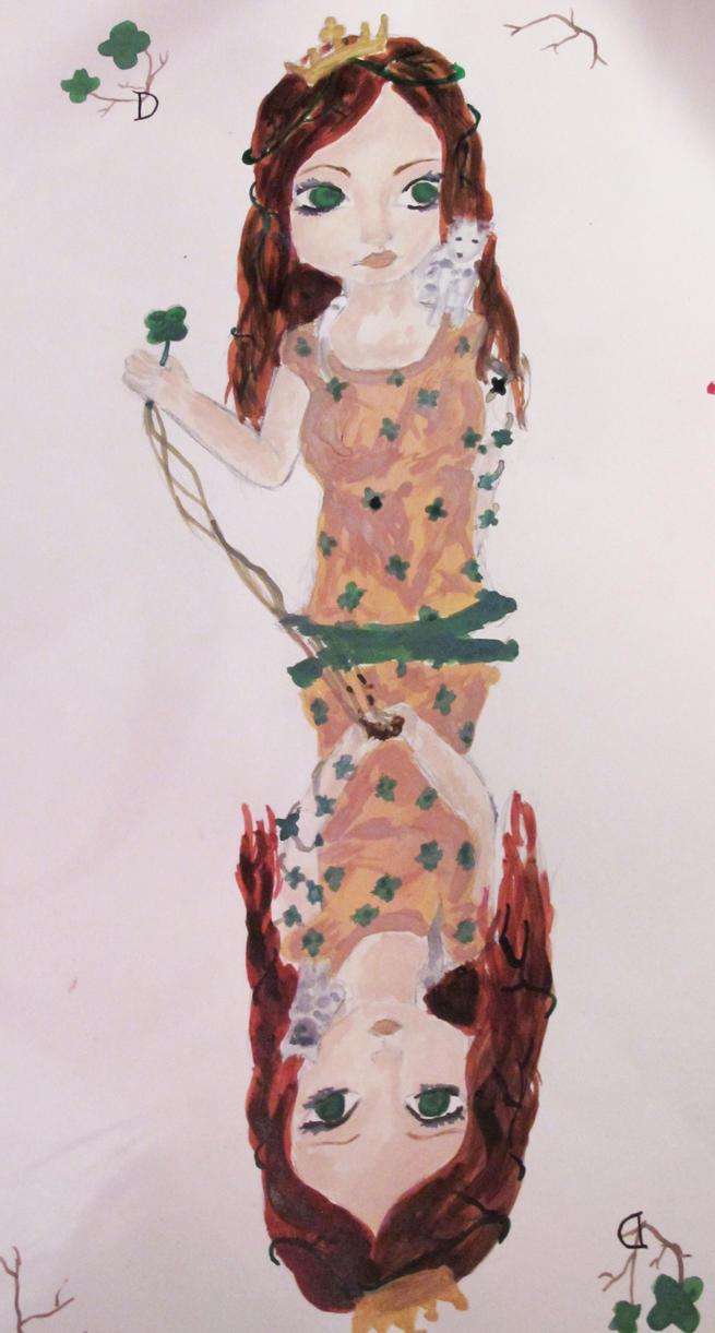 Tarot - Dame de trefle by Bloody-Sweet