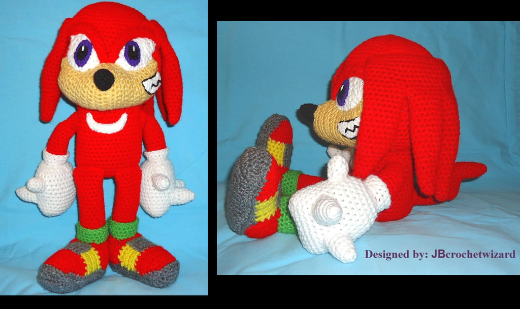 Knuckles amigurumi by JBcrochetwizard on DeviantArt
