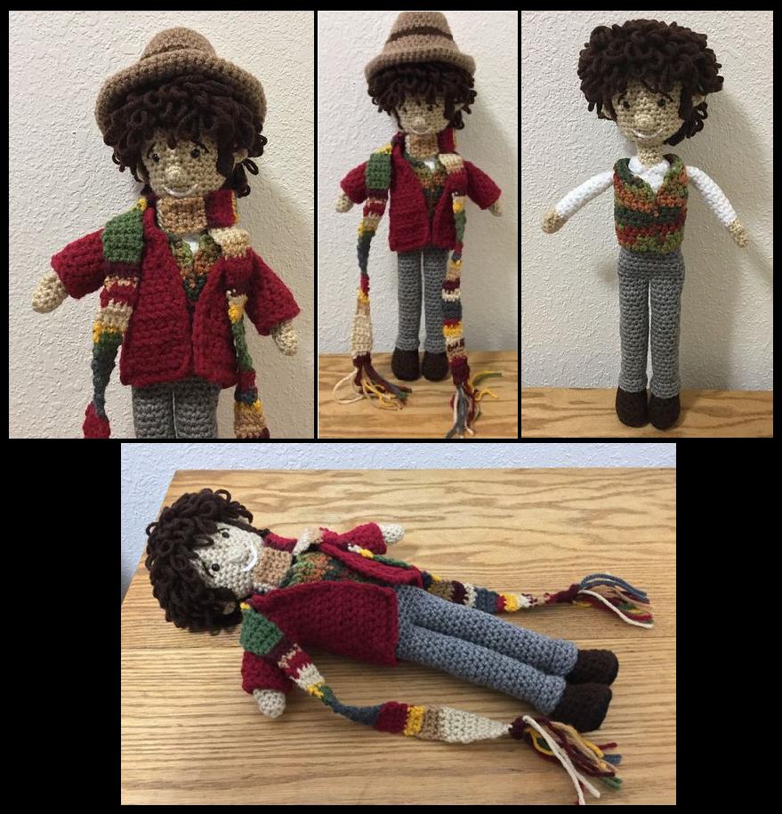 Fourth Doctor doll by JBcrochetwizard