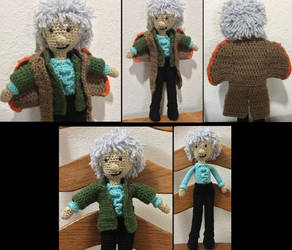 Third Doctor doll by JBcrochetwizard