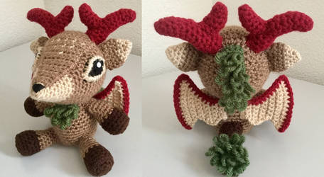 Deer Dragon amigurumi by JBcrochetwizard