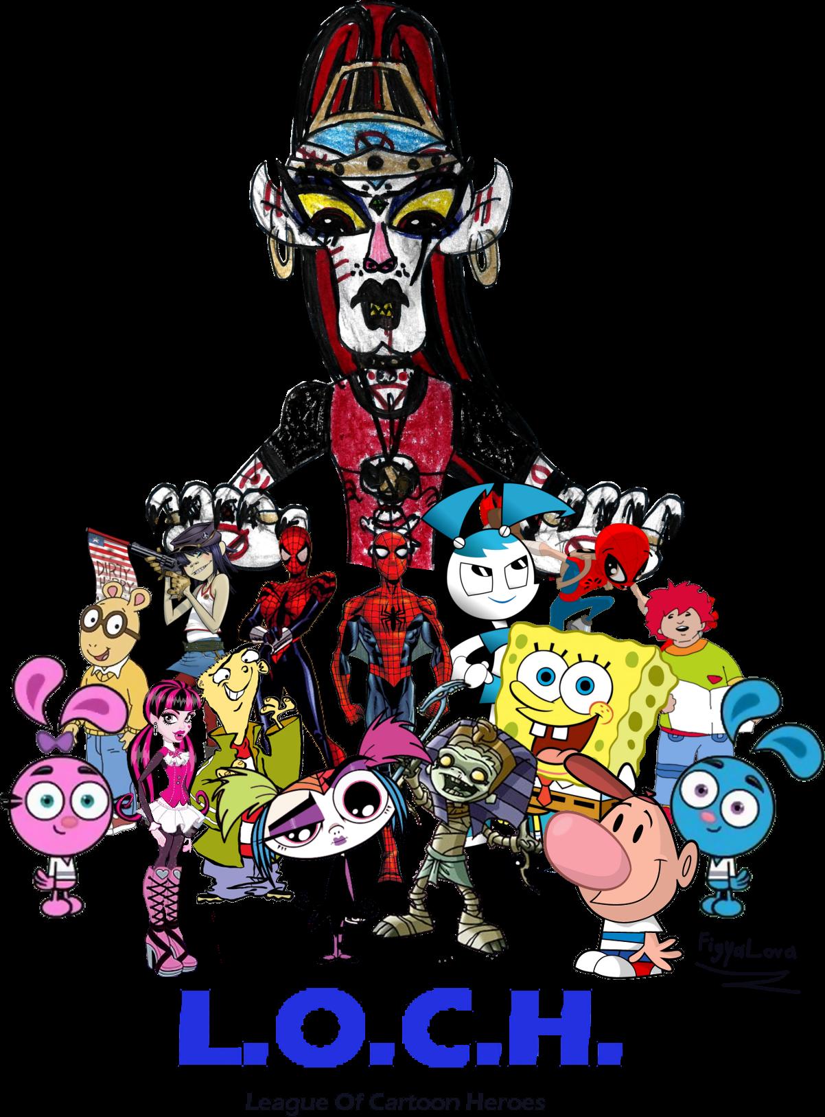 The League Of Cartoon Heroes (LOCH) by FigyaLova on DeviantArt