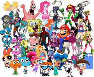 Fictional Characters Collage