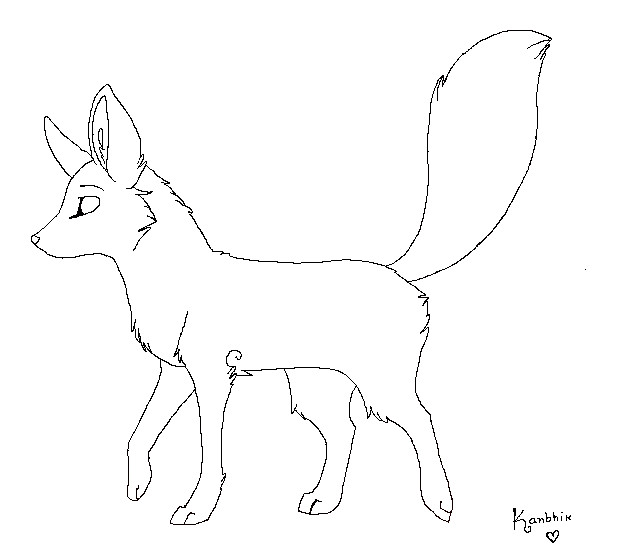 Line Drawing Fox : Fox lineart by kanbhik on deviantart