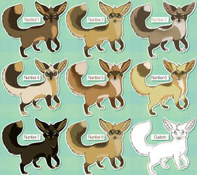 Bat eared foxeS. SALE $1 OR 85 POINTS by Kanbhik