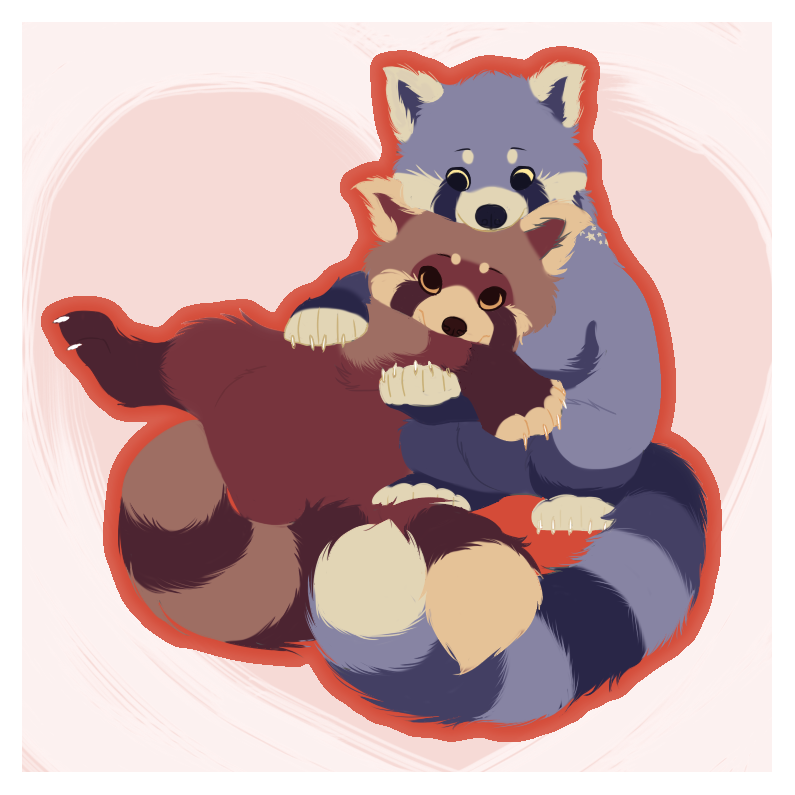 Snuggly pandas by Kanbhik