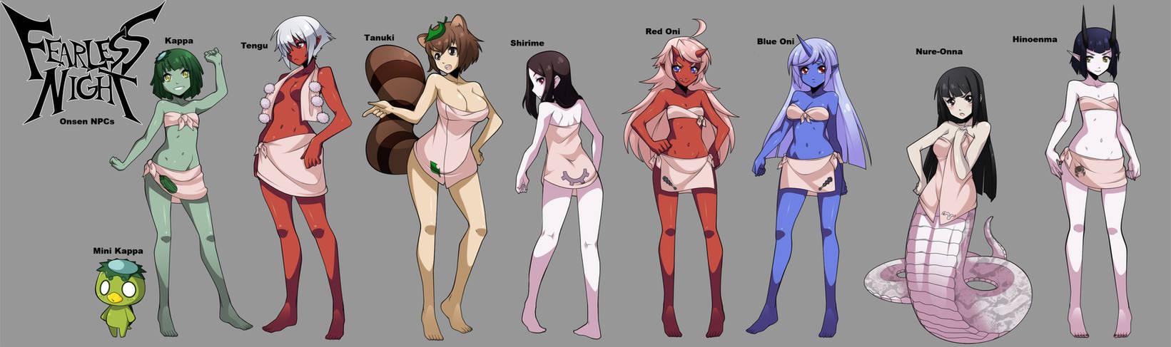 Kappa Onsen NPC concepts!