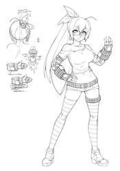 FN Cyron sketch 1 by Oniika