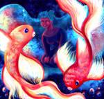 Goldfish Galaxy by elikapika