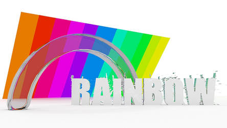 Rainbow (Wallpaper made in Blender and Pain.net)