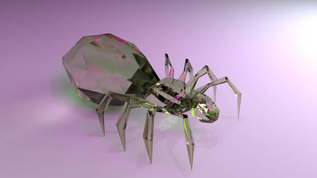 Glasspider (Cycles Blender)