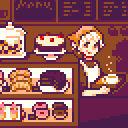 Sweet treats at cafe