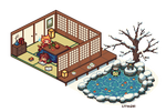 Winter dollhouse life