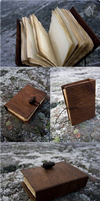 Smudgy Leather Book