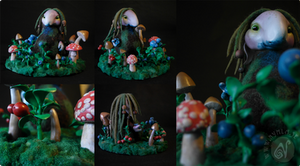 The Blueberry Hunt  (Available on Etsy!) by Nymla